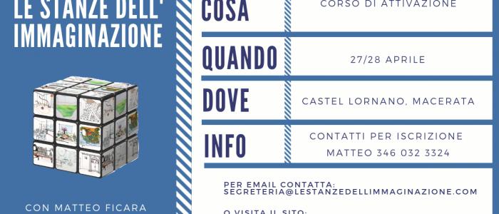 MACERATA | Attivazione Le Stanze dell'Immaginazione 27/28 Aprile