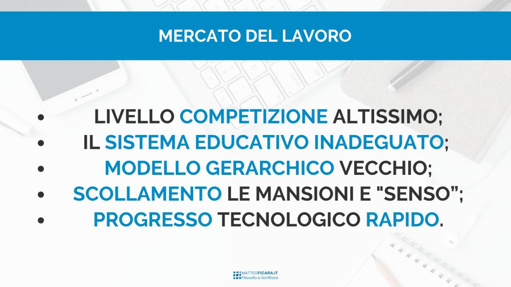 mercato-lavoro-competitors-educazione-inadeguata-mancanza-senso-organizzazioni-gerarchiche-progresso-rapido