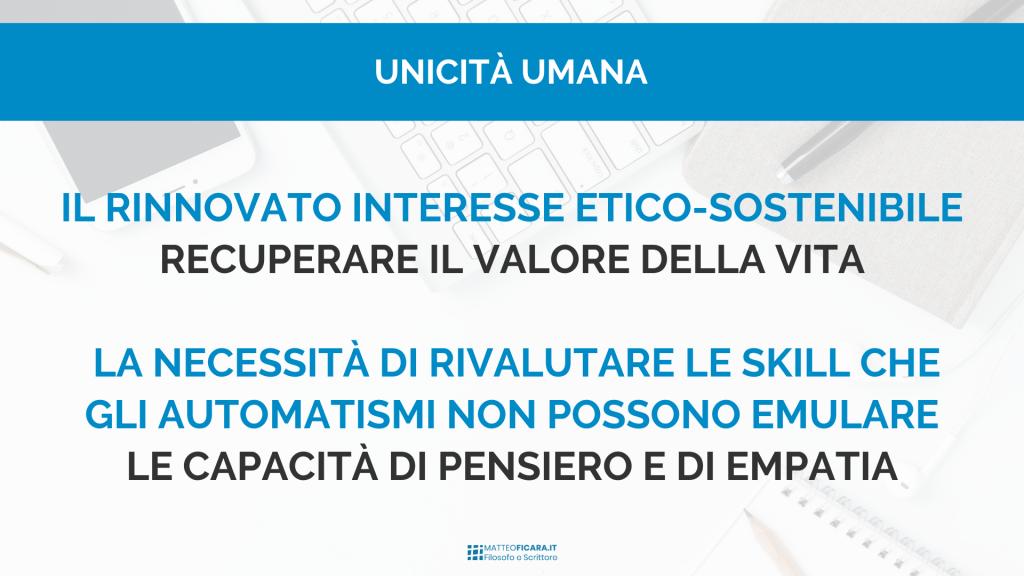 unicità-umana-valore-vita-etica-sostenibilità-skill-pensiero-empatia