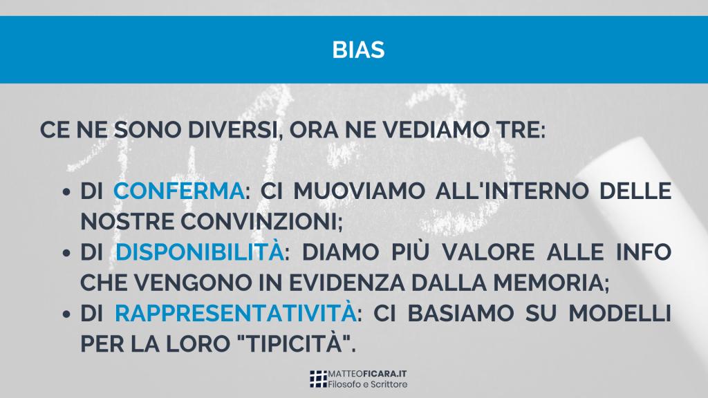bias-conferma-disponibilità-rappresentatività