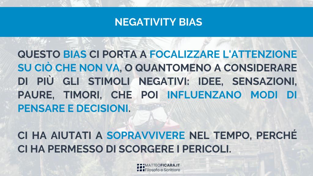 bias-negatività